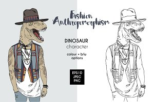 Dino anthropomorphic character