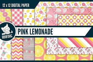 Pink lemonade digital paper