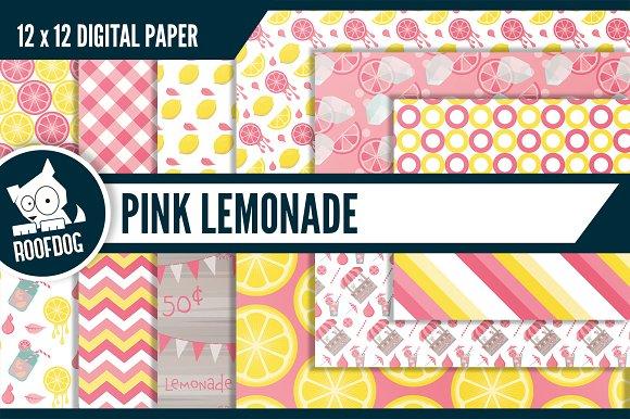 Pink lemonade digital paper