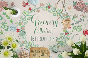 Greenery Collection 167 Elements