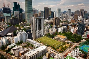 Roppongi district in Minato, Tokyo