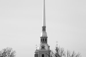 The spire of the Peter and Paul Fortress, Saint Petersburg, Russia