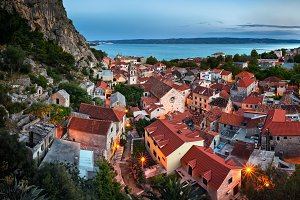 Aerial View of Omis