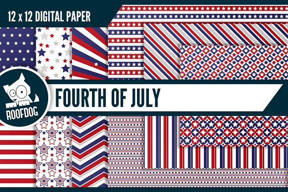 Fourth of July digital paper