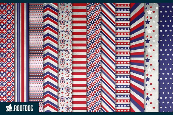 Fourth of July digital paper silver  in Patterns - product preview 1