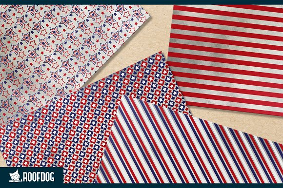 Fourth of July digital paper silver  in Patterns - product preview 3