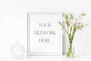 White Frame Mockup Gladiolus