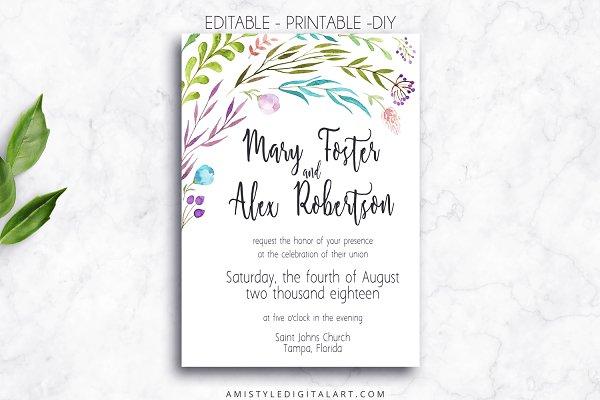 Wedding Invitation Template - Leave…