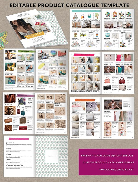 Product brochure product catalog id6 brochure templates for Product brochure template