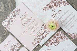 Rose Gold Floral Wedding Suite