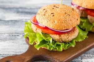 Homemade healthy Turkey Burger