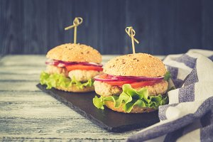 Homemade healthy Turkey Burger