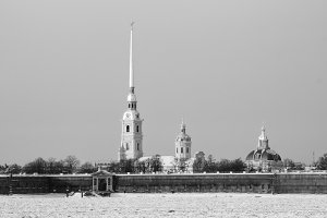Peter and Paul Fortress in the winter, Saint Petersburg, Russia