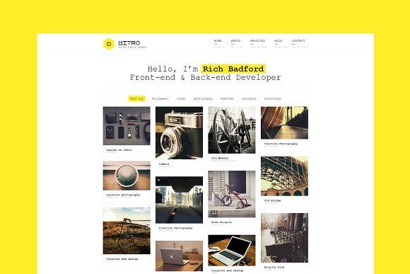 Mitro Minimal HTML Template