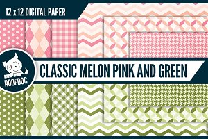 Classic patterns pink and green