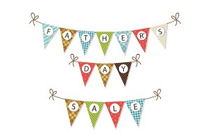 Cute festive Father's Day banner
