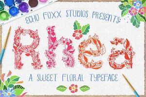 Rhea: A Floral Spring Font Bundle