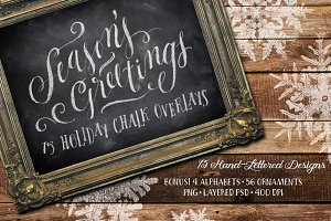 75 Holiday Chalk Overlays