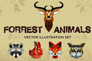 Forrest Animals Vector Set