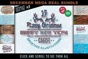 Mega Deal: 17 X-Mas Cards