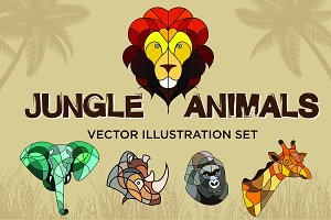 Jungle Animals Vector Set