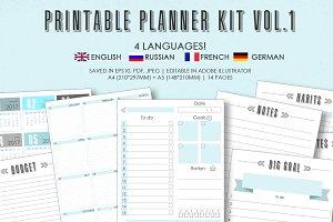 Planner kit vol.1 - 4 languages!