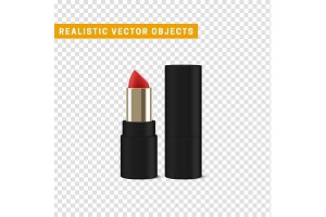 Red lipstick 3d illustration of a beautiful illustration.