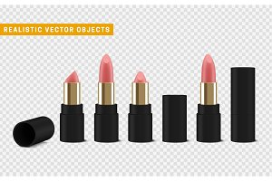Pink lipstick 3d illustration of a beautiful illustration.