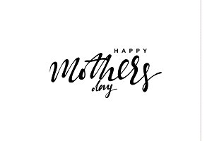 Happy Mother's Day. Lettering calligraphy hand drawn.