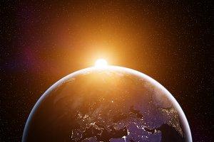 Planet Earth sunrise