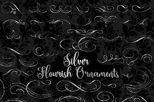 Silver Flourish Clip Art