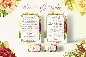 Flower Wedding Templates