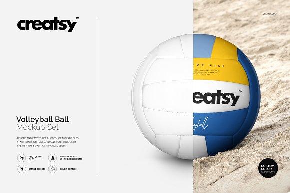 Volleyball Ball Mockup Set