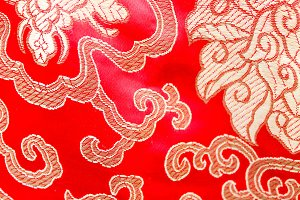 Chinese Cloth in Red and Golden