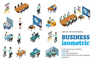 Business Isometric Set