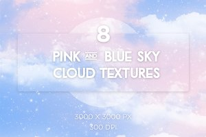 Pink and Blue Sky Textures