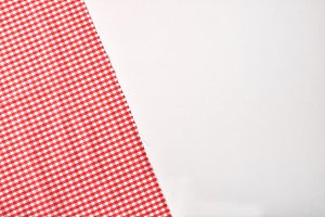 Red and white checkered fabric