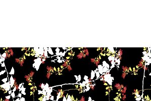 Chinoiserie Floral Collage Pattern