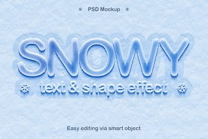 Snowy style effect in Photoshop