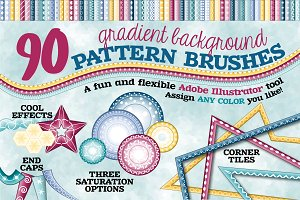 Gradient Background Pattern Brushes