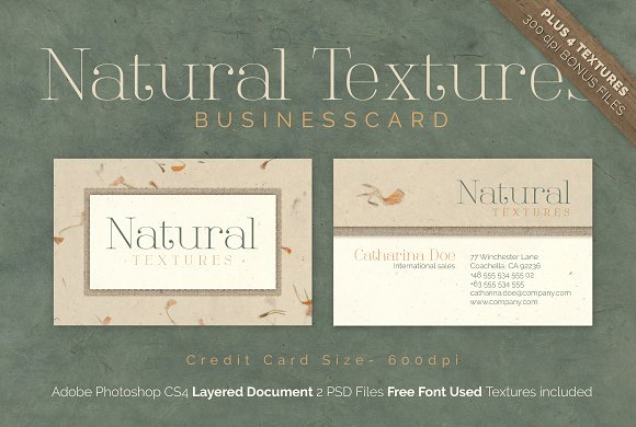 Natural Texture Business Card