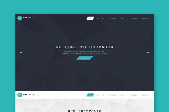 One Page Single Page HTML Template