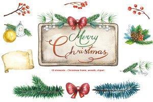 Christmas Frames, Wreaths - 19 items