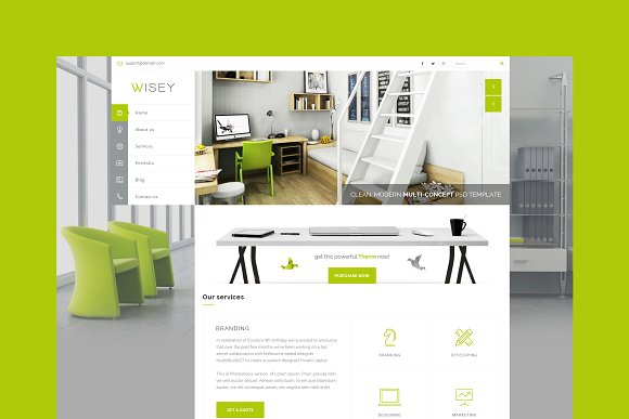 Wisey Multiconcept HTML Template