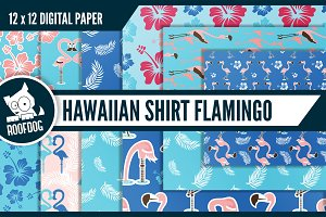 Hawaiian shirt digital paper