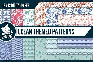 Ocean themed digital paper