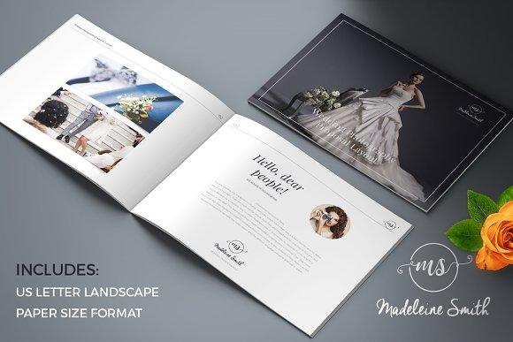 Madeleine Wedding Proposal Brochure Templates Creative Market