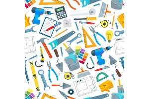 Repair tool and equipment seamless pattern