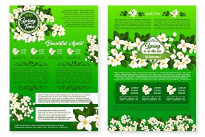 Spring season holidays greeting poster template