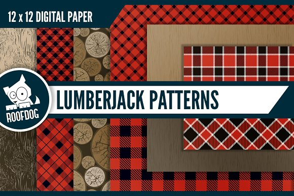Outdoor Lumberjack Digital Paper